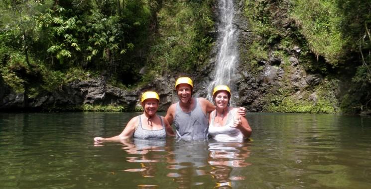Rappelling down Waterfalls in Maui