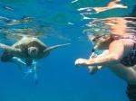 Athena Swims w Turtles at Turtle Town, Maui Hawaii