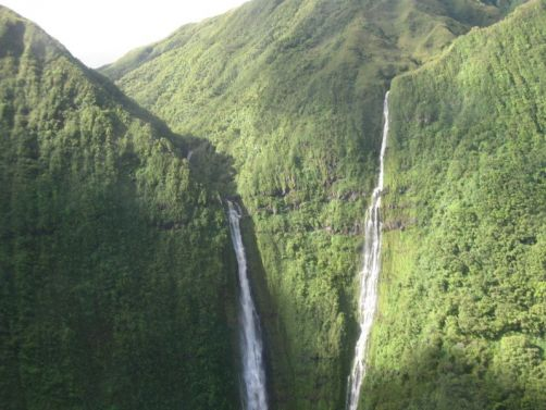 Waterfall in one of the wettest places on Earth