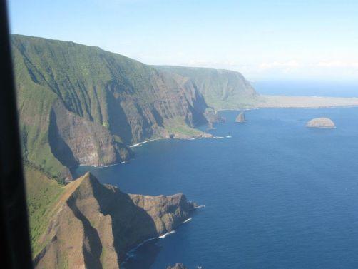 My photo of the Cliffs of Moloka'i
