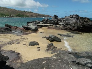 1 of our favorite places to fish and hang out while on Molokai