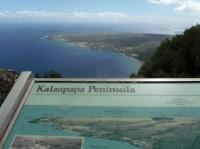 Kalaupapa Peninsula outlook on Molokai