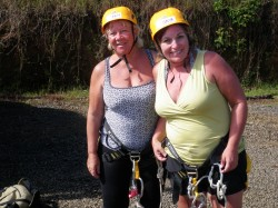 Gearing up for Waterfall rappeling