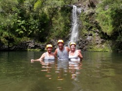 waterfall hike maui