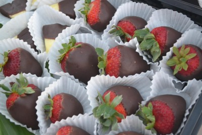 Chocolate covered Strawberries on Queens Treasure, Maui Valentine's Day Cruise